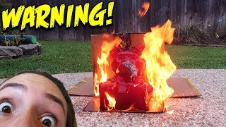 BLOWTORCH VS. 30LB GUMMY BEAR!! *DO NOT TRY*