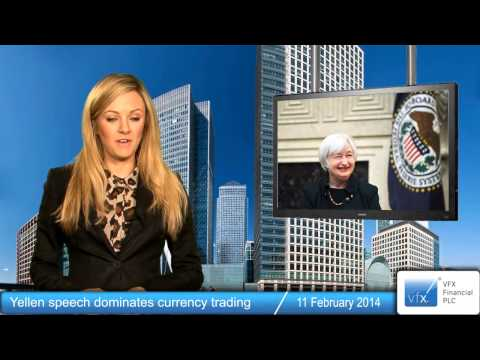 Yellen speech dominates currency trading