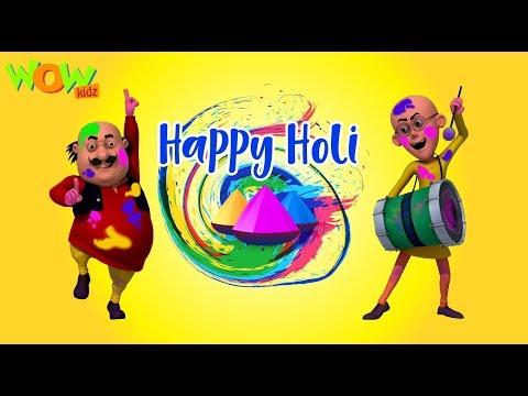 HOLI special with Motu Patlu | Holi Hai Bhai Holi Hai | Wow Kidz thumbnail