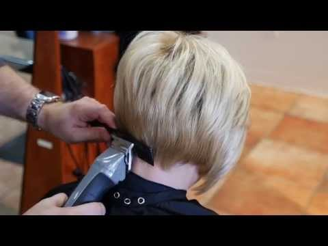 How to Taper a Female Neckline TheSalonGuy