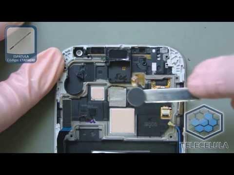 Como Desmontar o Samsung Galaxy S4 i9500.  i9505 - TELECELULA