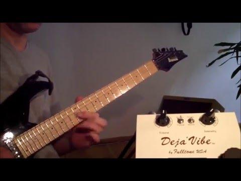 Soundcheck: Fulltone Deja Vibe Stereo - impro over Machine Gun (Jimi Hendrix)