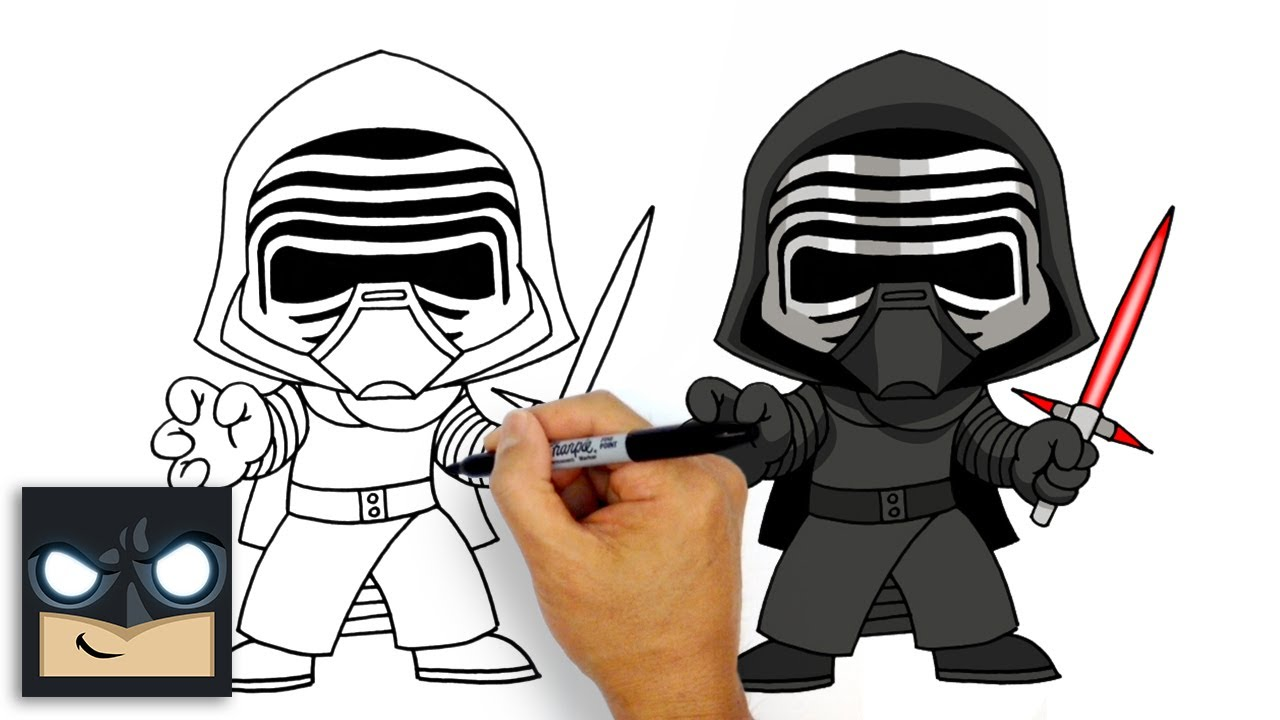 How to Draw Kylo Ren | Star Wars - YouTube