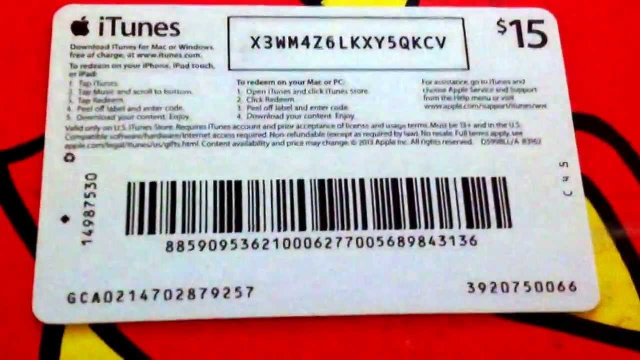 itunes codes card gift dollar cards