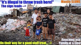 Travel to the Slums of Manila Philippines and Meet a Poor Boy like Adrian. A Filipino, Working Hard