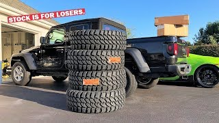 PUTTING A LIFT KIT AND MASSIVE TIRES ON MY BRAND NEW JEEP GLADIATOR! *Stock Jeeps Suck!*