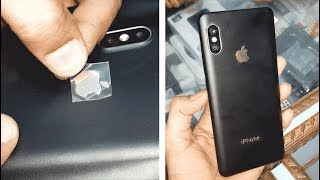 Convert Mi Note 5 Pro Mi mobile in iPhone with lamination Decorate wrap trick 2018 upcoming