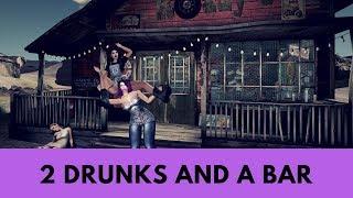 2 drunk women at the virtual bikers bar