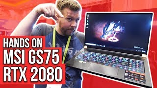 "Thin 17"" Gaming Laptop of Year? MSI GS75 w/ RTX 2080 Max-Q!Hands on!"