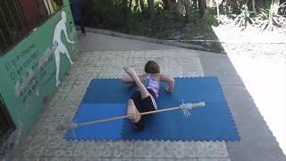 Aileen Contact Staff-on-Foot Turn - Ninja Pyrate Holiday Challenge 2018