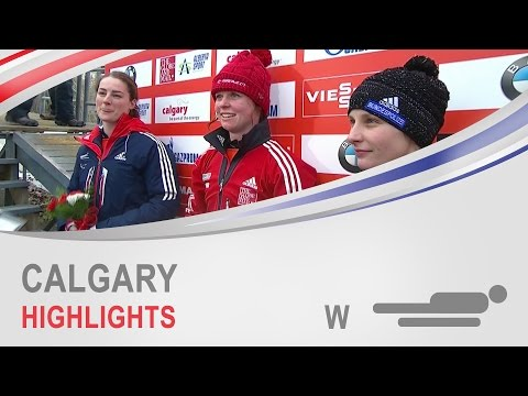 Calgary Highlights | Women's Skeleton World Cup Tour 2014/2015 | FIBT Official