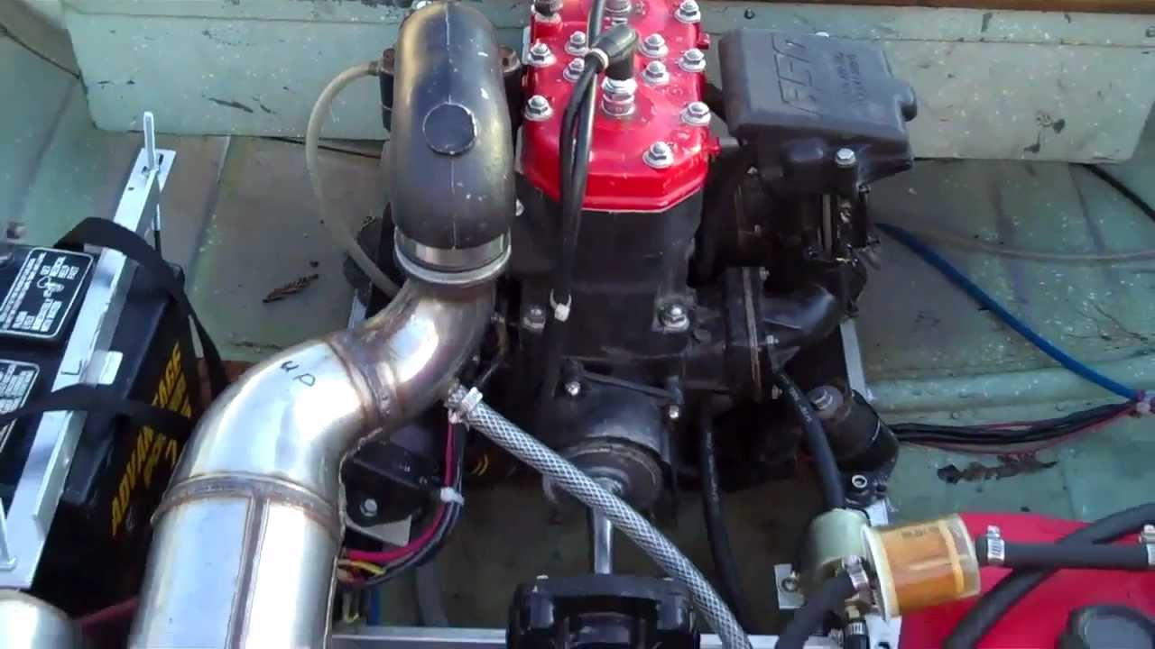 Jet Ski Powered Aluminum Row Boat Home Made Frankenboat By