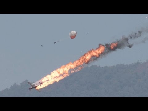 Two Planes Crash Into Each Other During Air Show