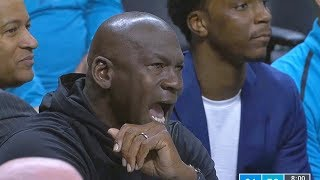 Michael Jordan Gets Angry & Goes Crazy At Soft Refs Who Give Marvin Williams A Technical Foul!