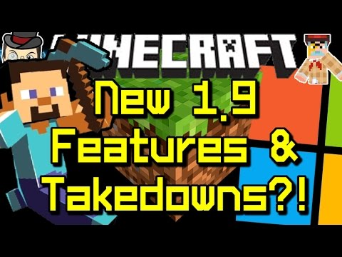 Minecraft News 1.9 FEATURES, Microsoft Takedowns & New Pre-Release!