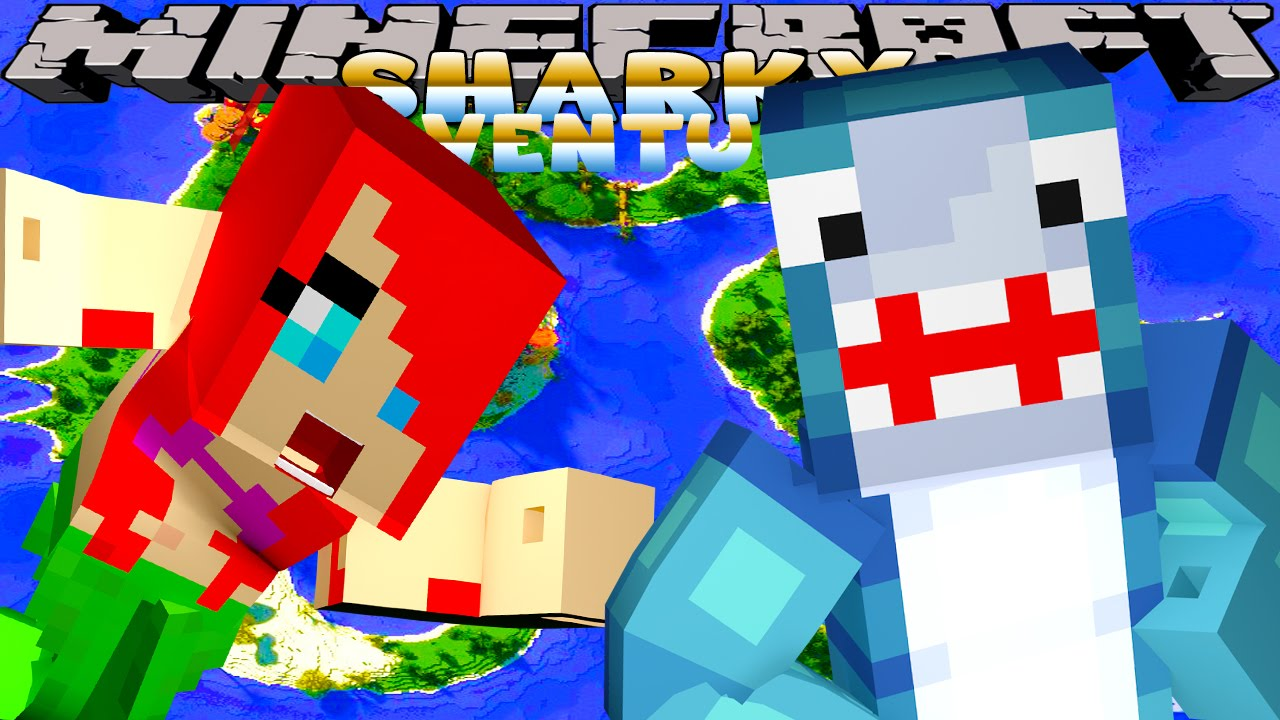 Minecraft Adventures - Sharky & Scuba Steve - FIGHTING THE EVIL VOLCANO ARMY