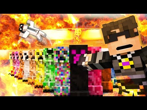Minecraft Mod Showcase Roleplay - ELEMENTAL CREEPERS MOD! (Custom Roleplay)