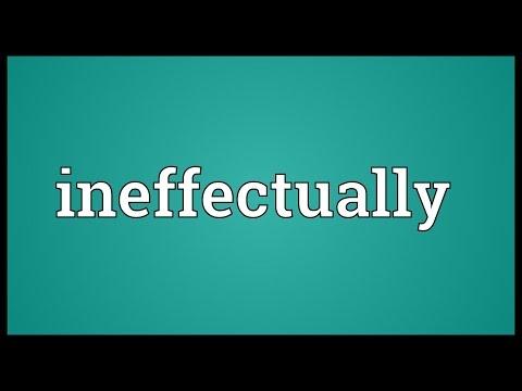 Header of ineffectually