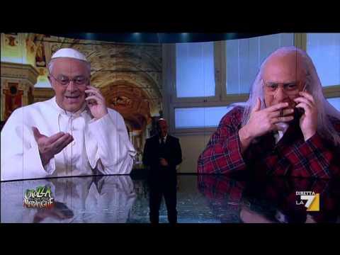 Crozza nel Paese delle Meraviglie – Papa Francesco telefona a Marco Pannella