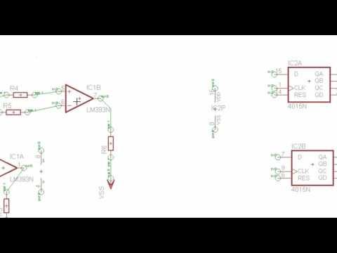 LM393, 4015, SUPPLY, Utilizando la herramienta INVOKE de EAGLE