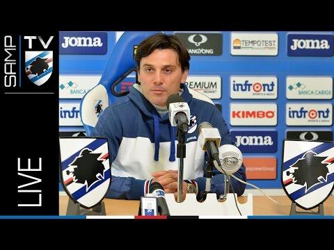 Sampdoria-Genoa: lo streaming della conferenza stampa di Vincenzo Montella