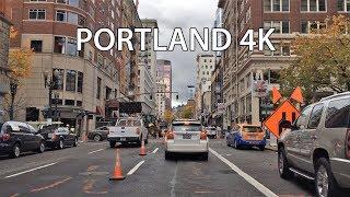 Driving Downtown - Portland 4K - Oregon USA