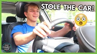 STEALING MY PARENTS CAR WITHOUT A DRIVERS LICENSE!