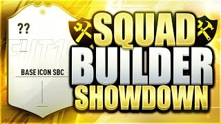 BASE ICON SBC SQUAD BUILDER SHOWDOWN! FIFA 19 ULTIMATE TEAM