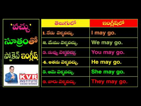 Spoken English Through Telugu Ls5 video