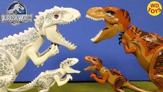 New 10 Jurassic World Lego Dinosaur Toys (Knockoff) - Indominus Rex Vs T-Rex, Velociraptor, Unboxing