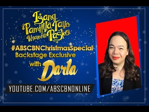 Isang Pamilya Tayo Christmas Special Backstage Exclusive with Darla