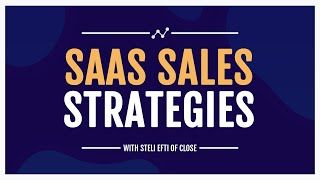 Successful SaaS Sales Strategies Webinar