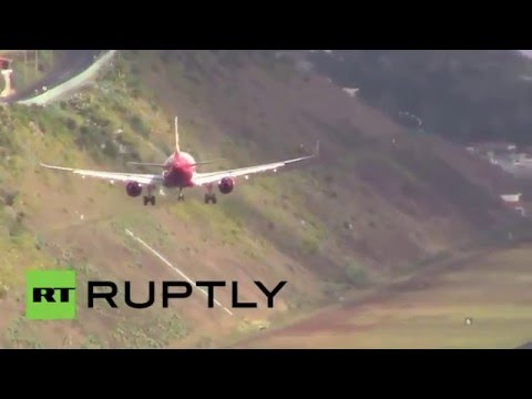 Portugal: Watch pilots land in crazy crosswinds at Europe's 'scariest' airport