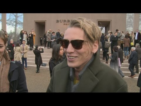 Jamie Campbell Bower and Suki Waterhouse attend Burberry Prorsum A/W14 Menswear show in London