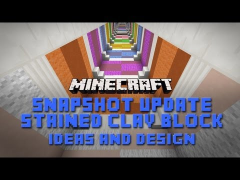 Minecraft:  Stained Clay Design Ideas for Houses. Rooms and Furniture