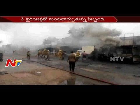 Huge Fire Accident at Sivakasi Crackers Godown in Tamilnadu || NTV