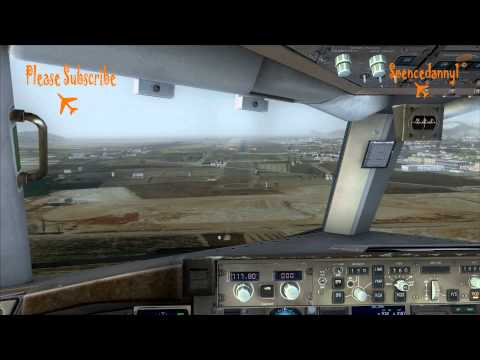 Realistic FSX Movie. Captain Sim Boeing 757 Landing at Aerosoft Ibiza