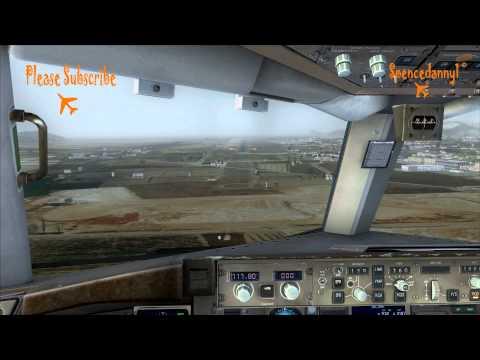 Realistic FSX Movie, Captain Sim Boeing 757 Landing at Aerosoft Ibiza