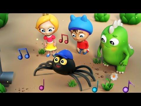 Музыкальные мультики для малышей Сина и Ло - Паучок - Детские песни