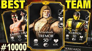 MKX Mobile 1.14. UNDEFEATABLE TREMOR STUN FINISHER TEAM. The Stun Will Never End...