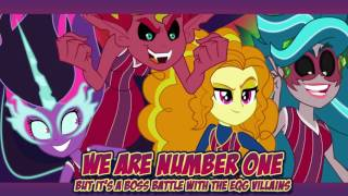 We Are Number One But It's a Boss Battle With The EqG Villains