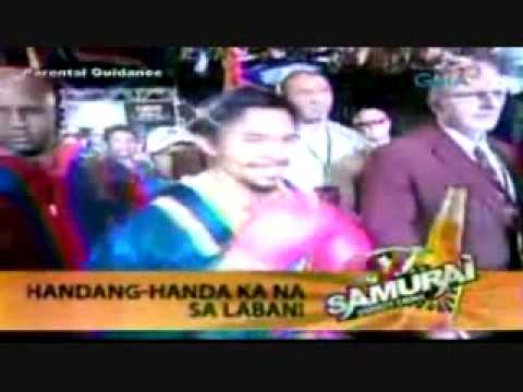 Manny Pacman Pacquiao & Dave Batista Walk To Ring