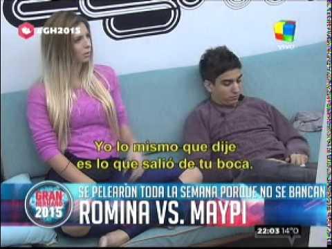 """""""Gran hermano 2015"""": El ataque de nervios de Maypi contra Romina"""