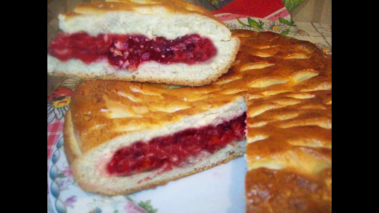 Дрожжевой пирог с вишней рецепт