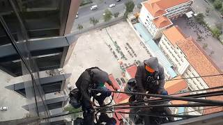 High rise building view || are you dare to work on top of exterior facade of high rise building?