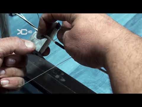 Fabricación cuerda para arco de caza