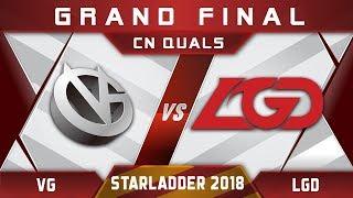 VG vs LGD Grand Final Starladder 2018 CN Highlights Dota 2