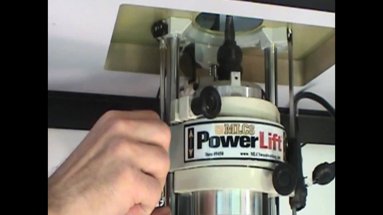 Mlcs Powerlift Demo The Worlds First Motorized Router