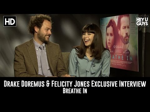 Drake Doremus and Felicity Jones Interview - Breathe In (Playing Piano)