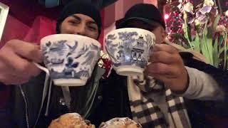 SPECIAL Episode of DAMANDYZ DONUTZ in Manchester, England at Richmond Tea Rooms! 🏴